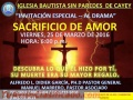 DRAMA DE VIERNES SANTO VIERNES 25 DE MARZO 6:00 P.M.